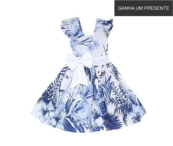 Vestido de Laço Floresta Azul