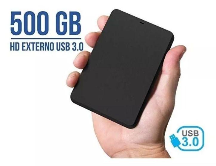 Hd Externo Portátil - 500gb Usb 3.0 Portátil Novo Slim