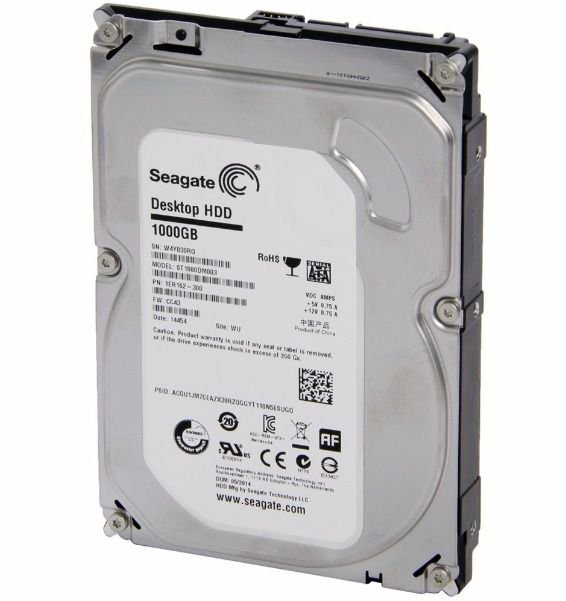 Hd 1tb Seagate Desktop 7200rpm Sata 3 6.0gb/s St1000dm003