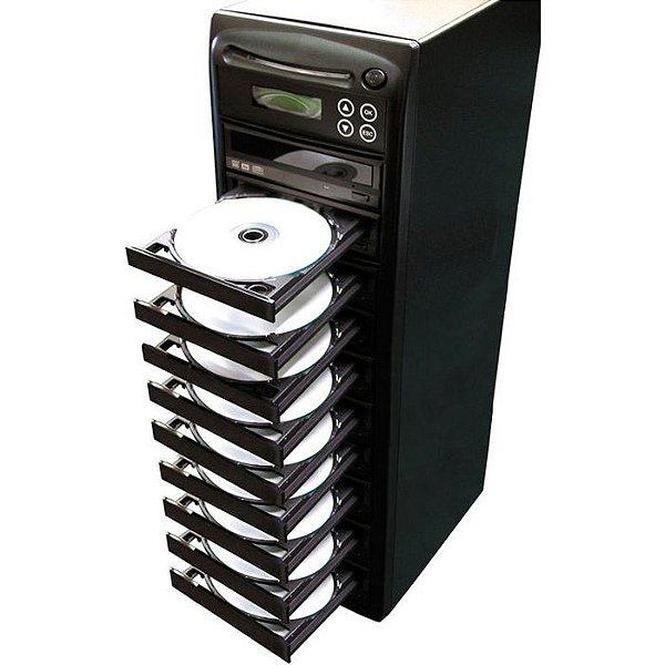 Duplicadora de DVD e Cd com 10 Gravadores Liteon Dual Layer