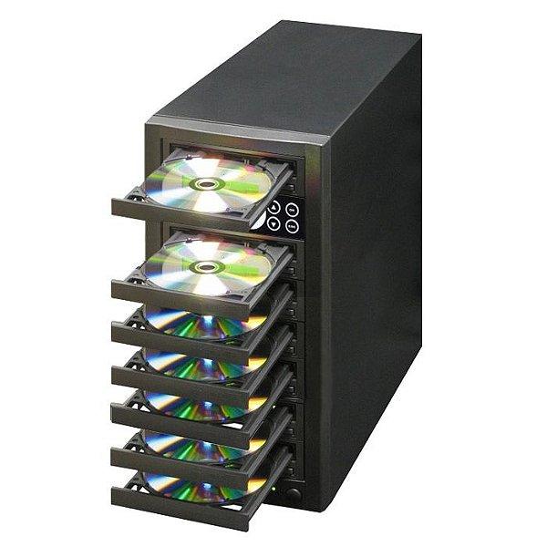 Duplicadora de DVD e Cd com 7 Gravadores Pioneer