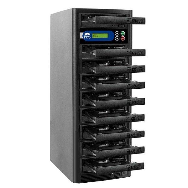 Duplicadora de DVD e CD com 9 Gravadores Liteon Premium Dual Layer
