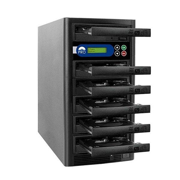 Duplicadora de DVD e CD com 6 Gravadores Liteon Premium Dual Layer