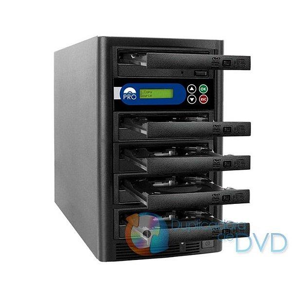 Duplicadora de DVD e CD com 5 Gravadores  Liteon Premium Dual Layer