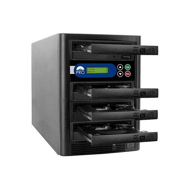 Duplicadora de DVD e CD com 4 Gravadores Liteon Premium Dual Layer