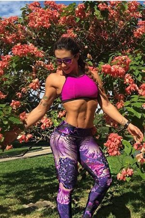 TOP FITNESS DEEP JACQUARD PINK BRO FITWEAR