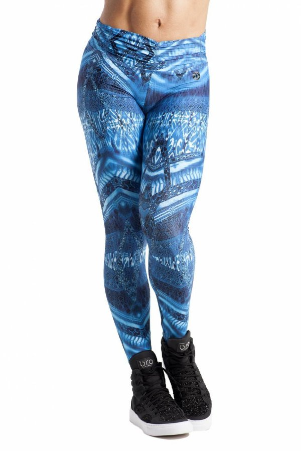 CALÇA LEGGING BABY DIGITAL TRIBAL AZUL BRO FITWEAR