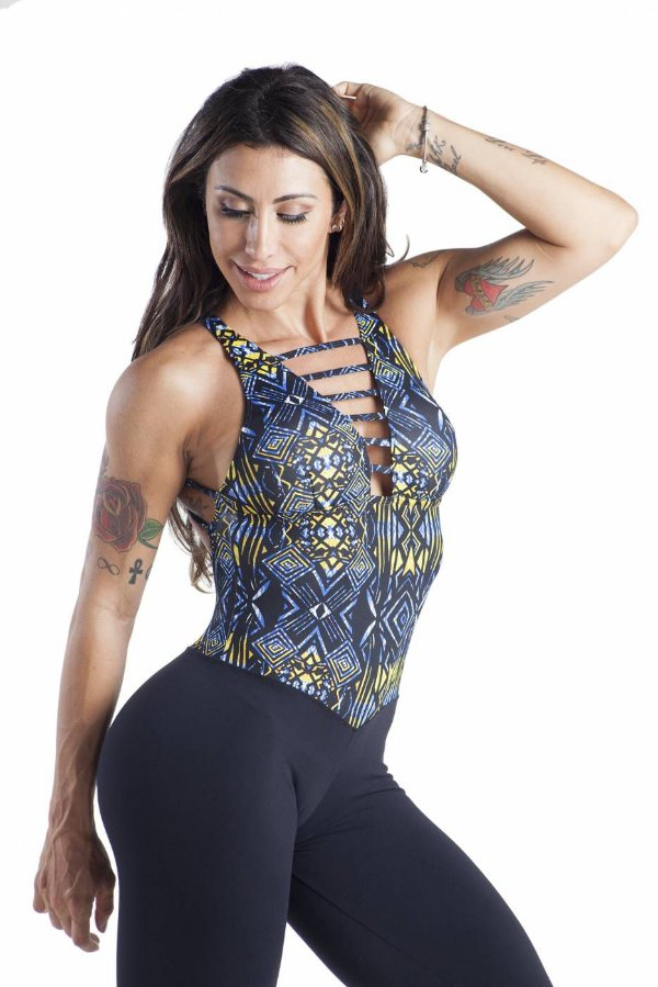 MACACÃO FITNESS MARY TRIBAL BRO FITWEAR