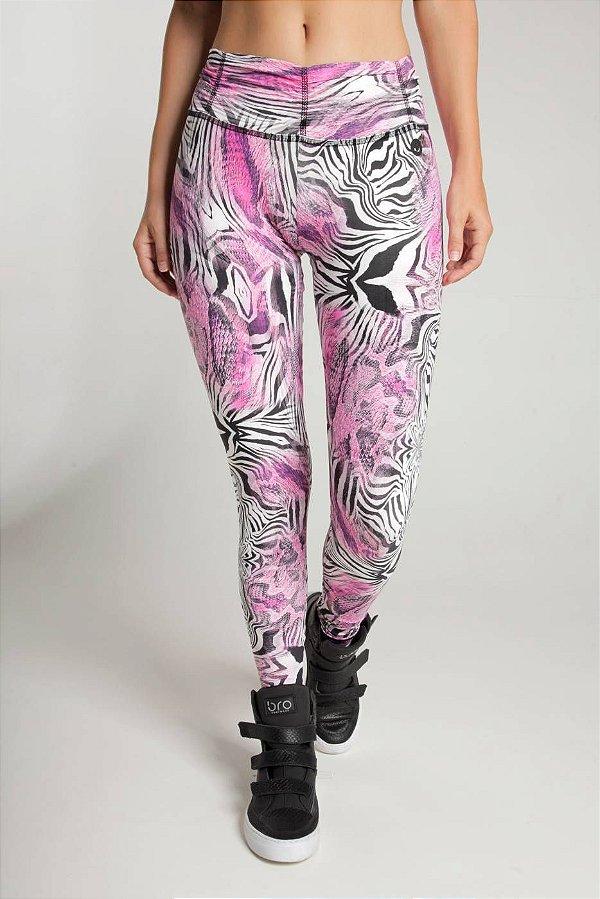 Calça Legging Baby Estampa Zebra Rosa Bro fitwear