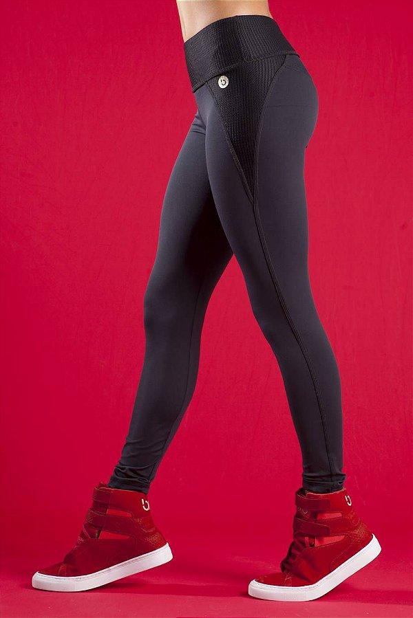 Legging Preta Em Emana Booster Bro fitwear
