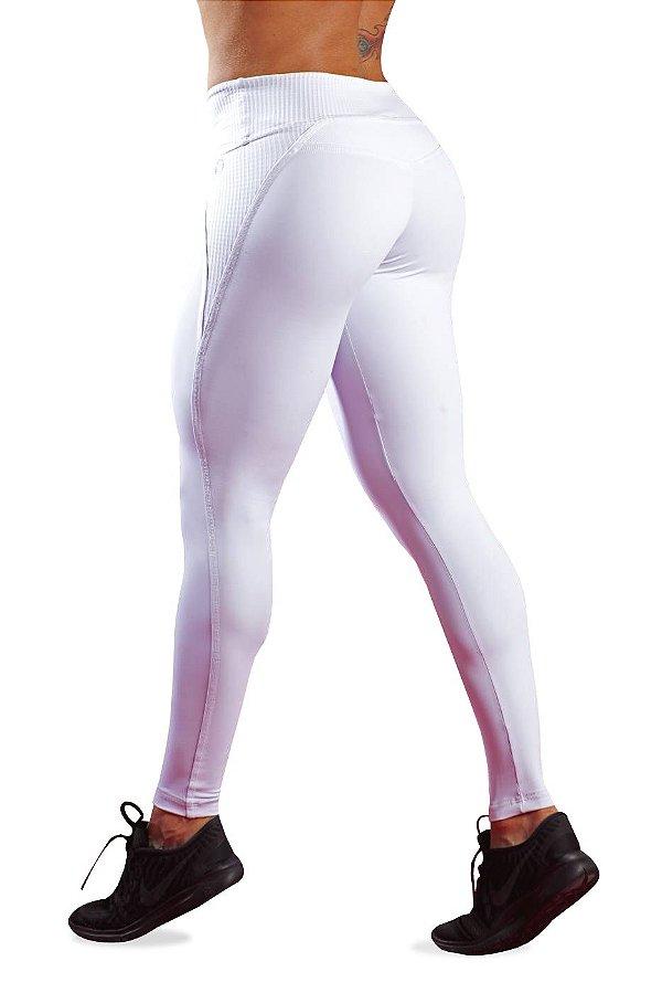 Legging Branca Em Emana Booster Bro fitwear