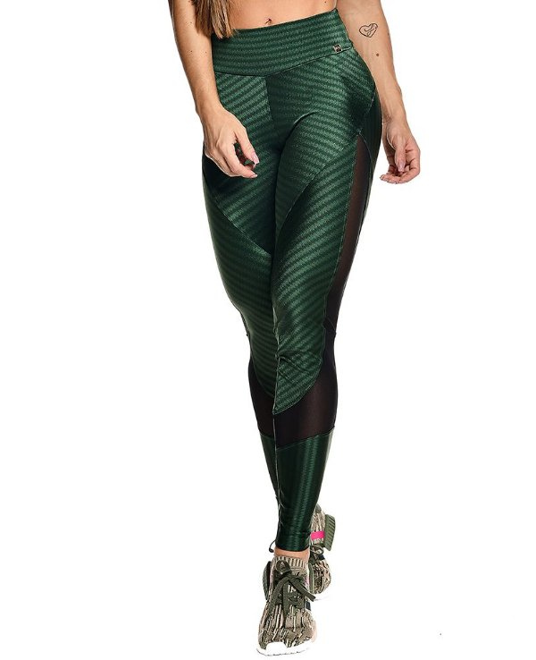 Legging Ikat Fit Verde Militar Let's Gym
