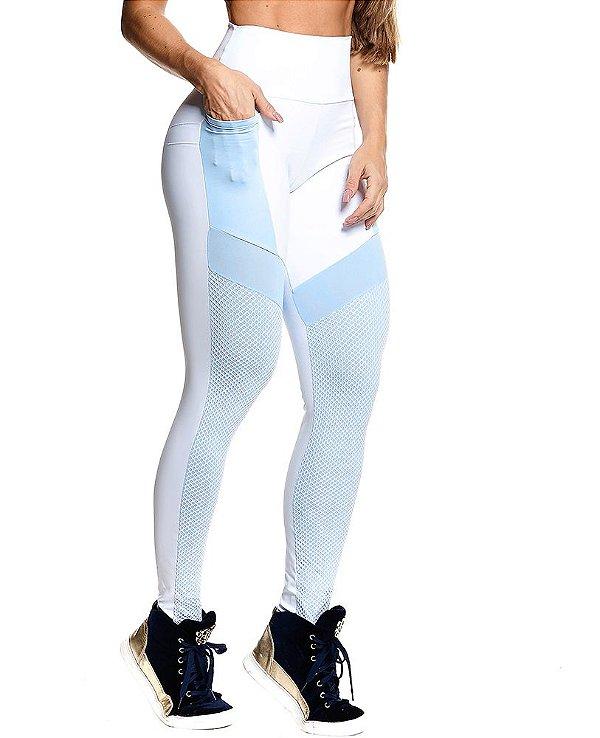 Legging Branca Push Up Fit Let's Gym