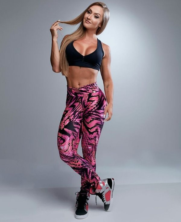 LEGGING CIRRÊ ESTAMPADA PINK LET'S GYM