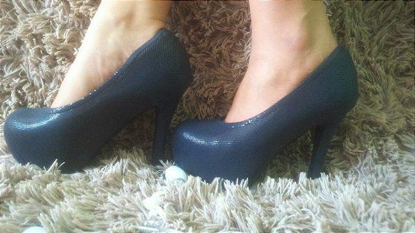 Capa para sapato - meia pata preto glamour