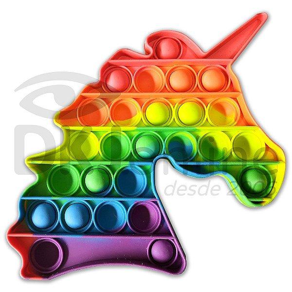 Pop It unicórnio - brinquedo bolha sensorial anti-stress