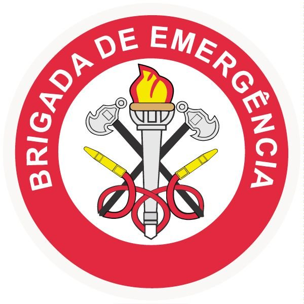 Brigada de incêndio / emergência modelo 2 - vinil adesivo para crachá ou capacete