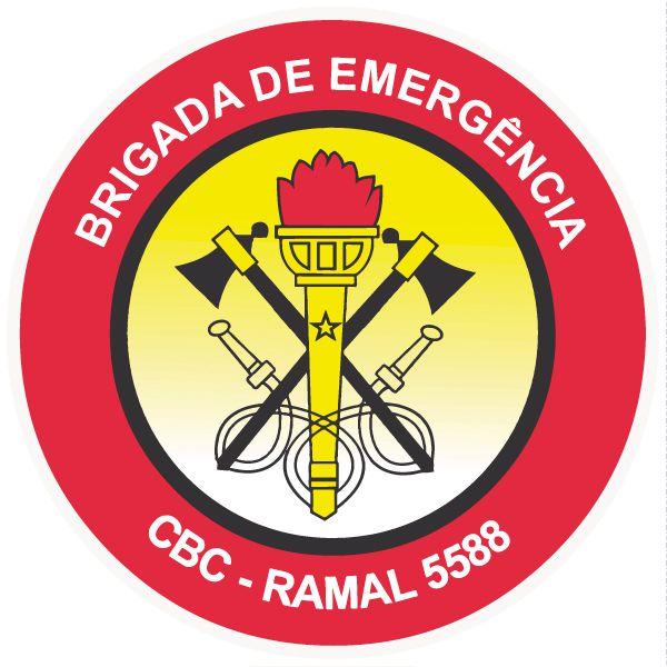 Brigada de incêndio / emergência modelo 4 - vinil adesivo para crachá ou capacete