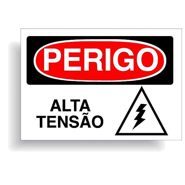 Perigo alta tensão  com opção em vinil adesivo ou placa