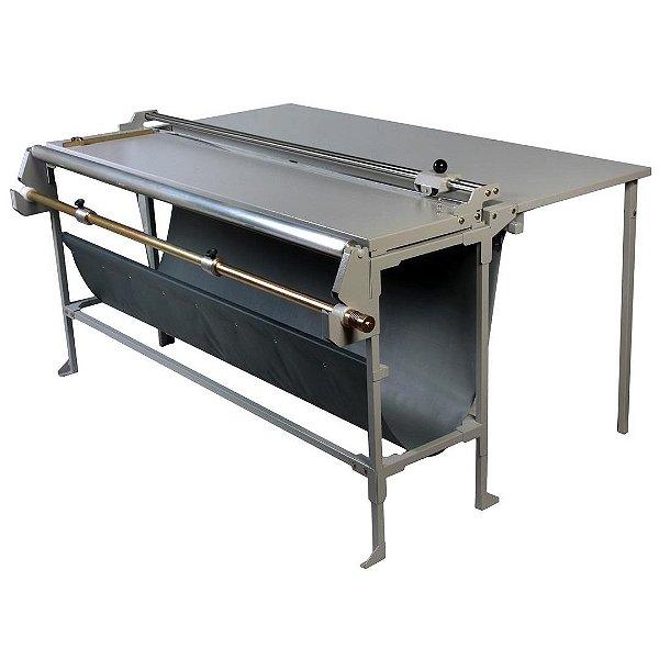 Refiladora duplo eixo 76 cm com desbobinador e mesa para papel, lona e vinil adesivo Excentrix