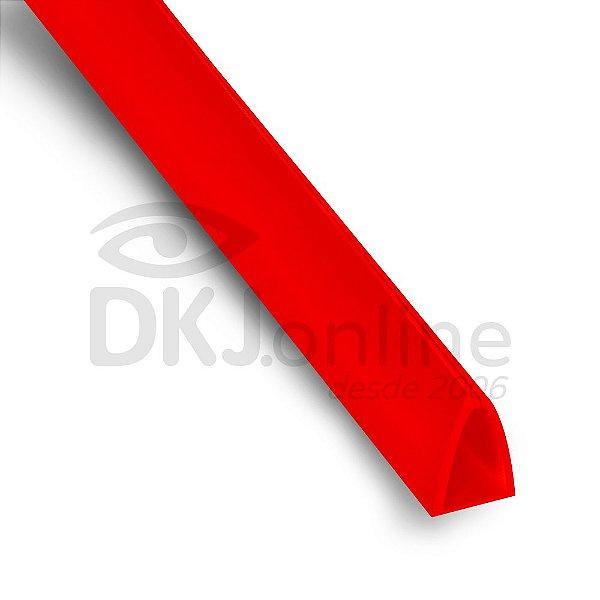 Perfil plástico Peg Doc PS (poliestireno) vermelho 10 mm barra 3 metros