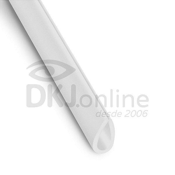 Perfil gota em PS Branco 10 mm barra 3 metros