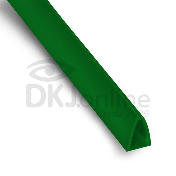 Perfil plástico Peg Doc PS (poliestireno) verde 20 mm barra 3 metros
