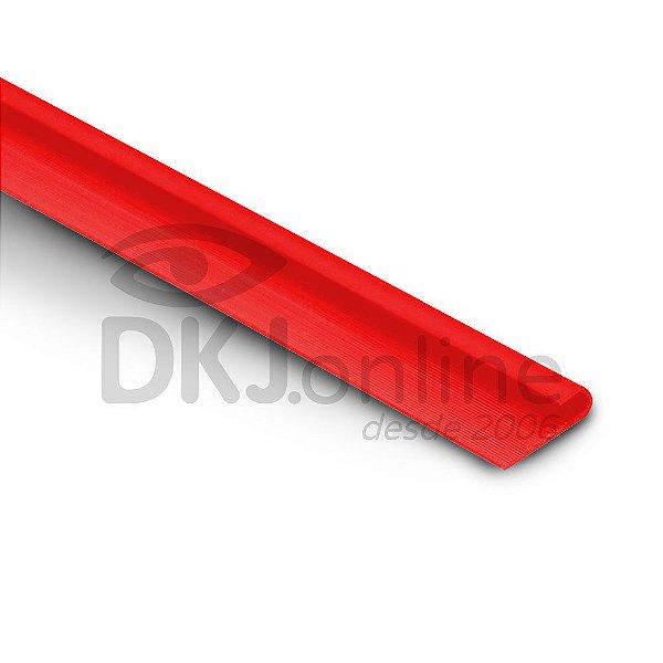 Perfil plástico J porta chapa PS (poliestireno) vermelho barra 3 metros