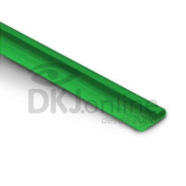 Perfil plástico J porta chapa PS (poliestireno) verde barra 3 metros