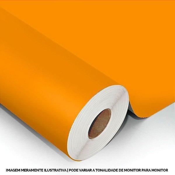 Interline - Vinil adesivo polimérico bright orange (laranja) brilho 61 cm de largura - Aplike