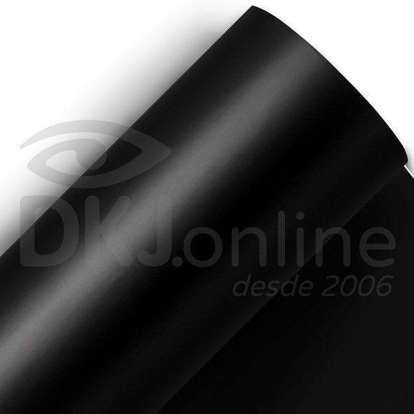 Aplikcar - Vinil adesivo automotivo fosco preto 122 cm de largura - Aplike