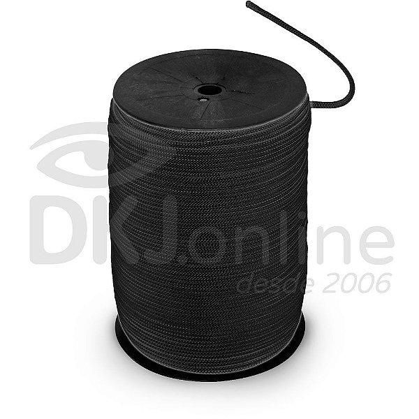 Cordão preto para banner e faixas -  trançado 4/1 rolo 1 kilo