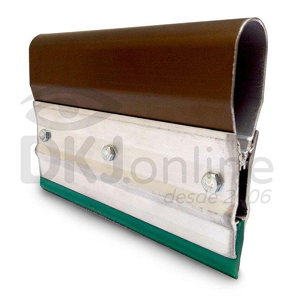 Rodo de alumínio para serigrafia (silk screen) 25 cm poliuretano verde