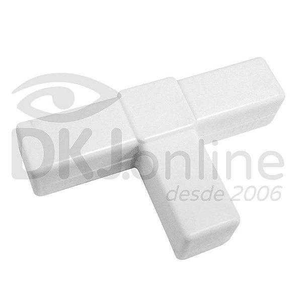 Conector T branco para estruturas de placas e cavaletes Pct com 10 unds