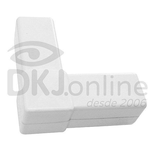 Conector L branco para estruturas de placas e cavaletes Pct com 10 unds