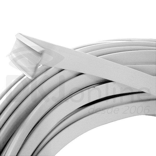 Perfil trim 1/2  branco 50 mts em ABS para acabamento de letra caixa