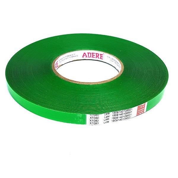 Adermax XT - Fita dupla face de massa acrílica transparente 9 mm x 20 mt com 0,8 mm
