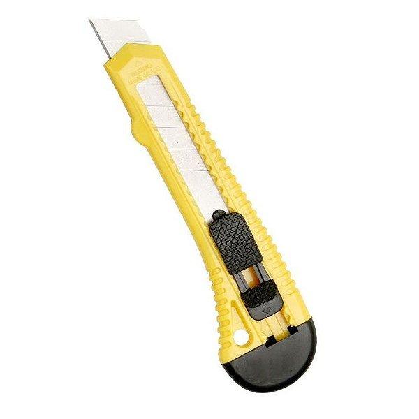 Estilete 18 mm em PVC com lâmina de aço