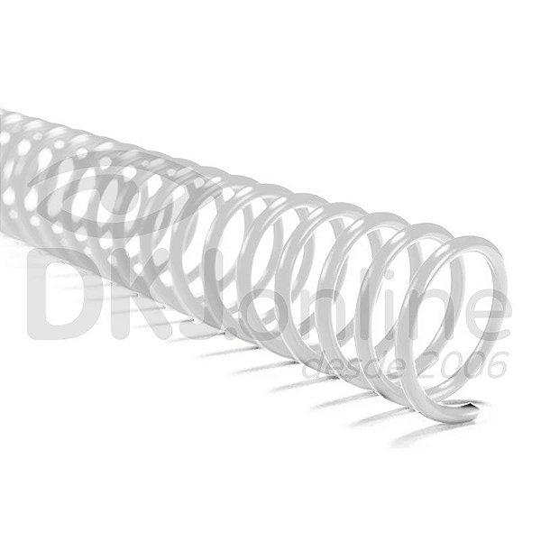 Espiral PVC para encadernação 9 mm branco pacote com 100 unidades - ideal para 50 folhas