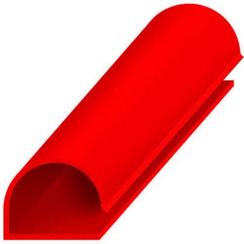 Perfil plástico C macro 15 mm em ps (poliestireno)