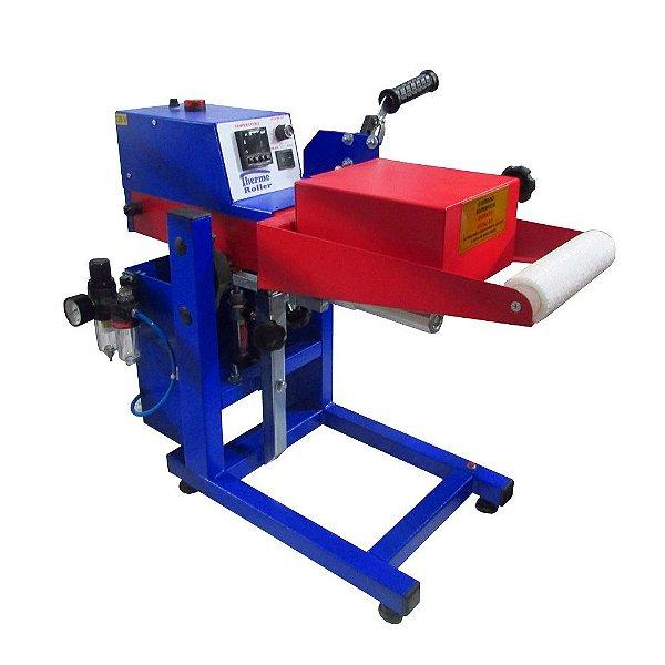 Thermo roller prensa térmica de giro pneumática 110v para transfer laser
