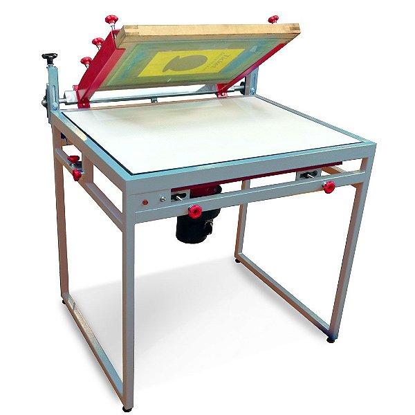Impressora serigráfica plana a vácuo área de 70x50 cm