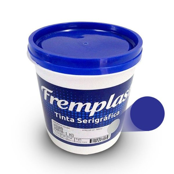 Hidro Mix - Tinta serigráfica base água azul marinho para tecido sintético e algodão claro e escuro 1 Kg
