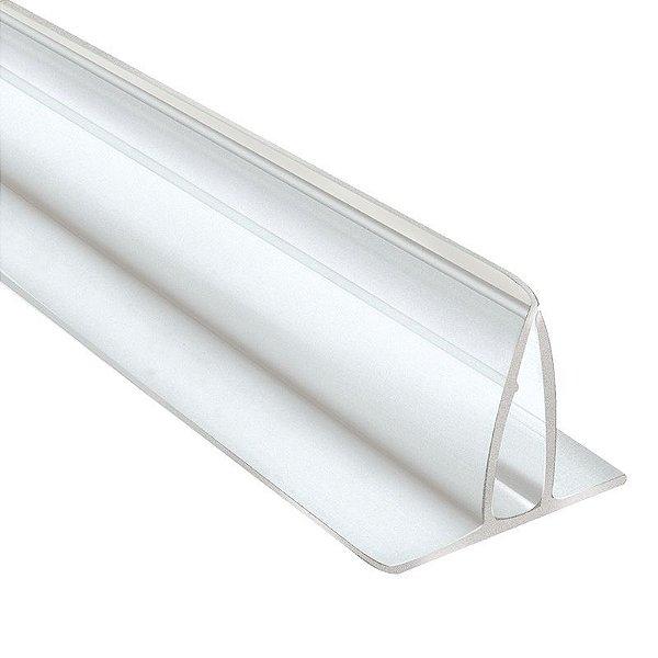 Perfil plastico fixa placa em pvc de 30 cm a 2 metros com ou sem fita dupla face