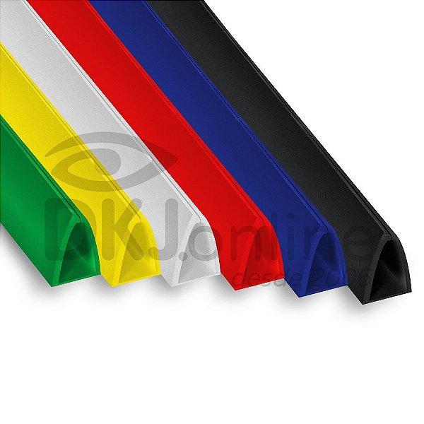 Perfil plástico peg doc acabamento de faixas, banners e placas, 10 mm, 15 mm ou 20 mm de 30 cm a 3 metros