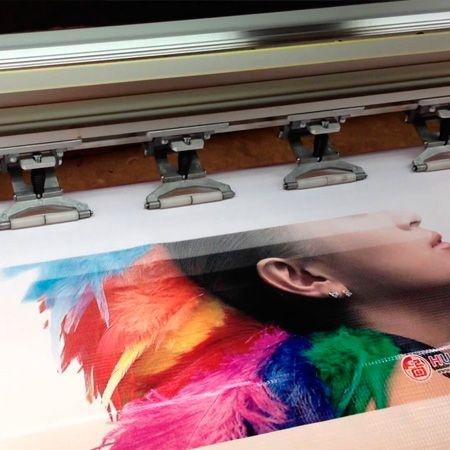 Serviço de impressão adesivo do cliente