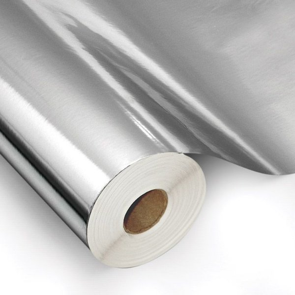 Filme poliéster prata para impressão digital solvente e eco solvente bobina de 100 cm x 25 metros