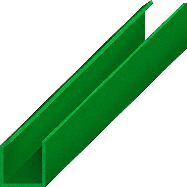 Perfil plástico trilho caderninho 12 mm x 12 mm com aba em 45 graus em PS (poliestireno)