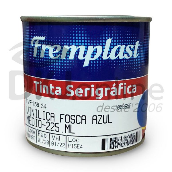 Vinílica fosca - tinta serigráfica base resinas vinílicas azul médio 225 ml