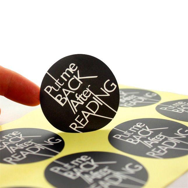 Impressão de etiqueta no formato desejado